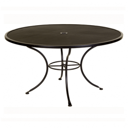 "Micro Mesh Dining Table With 2"" Umbrella Hole- 54"" Round"