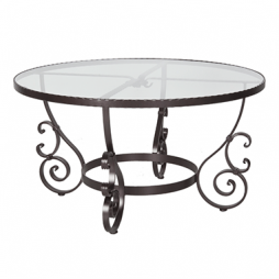 "San Cristobal Glass Top Dining Table With 2"" Umbrella Hole"
