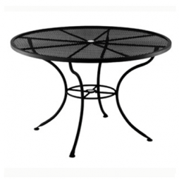 """Standard Mesh Dining Table With 2"""" Umbrella Hole- 60"""" Round"""