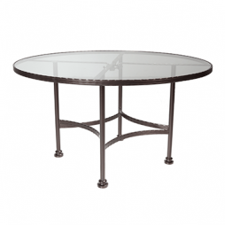 "Classico-W Glass Top Dining Table With 2"" Umbrella Hole 48"""