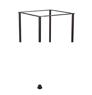 """Classico-W Bar Table fits 42"""" -54"""" Round & 34"""" -48"""" Square tops"""