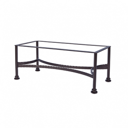 "Classico-W Coffee Table Base fits 24"" x 44"" & 28"" x 50"" tops"