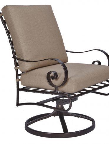 Classico-W Club Dining Spring Base Rocker Arm Chair