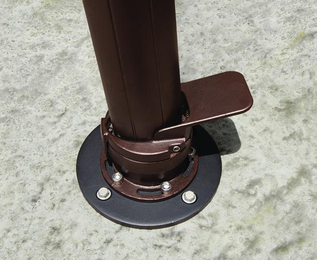 Akz Series Concrete Mount Kit Hauser S Patio