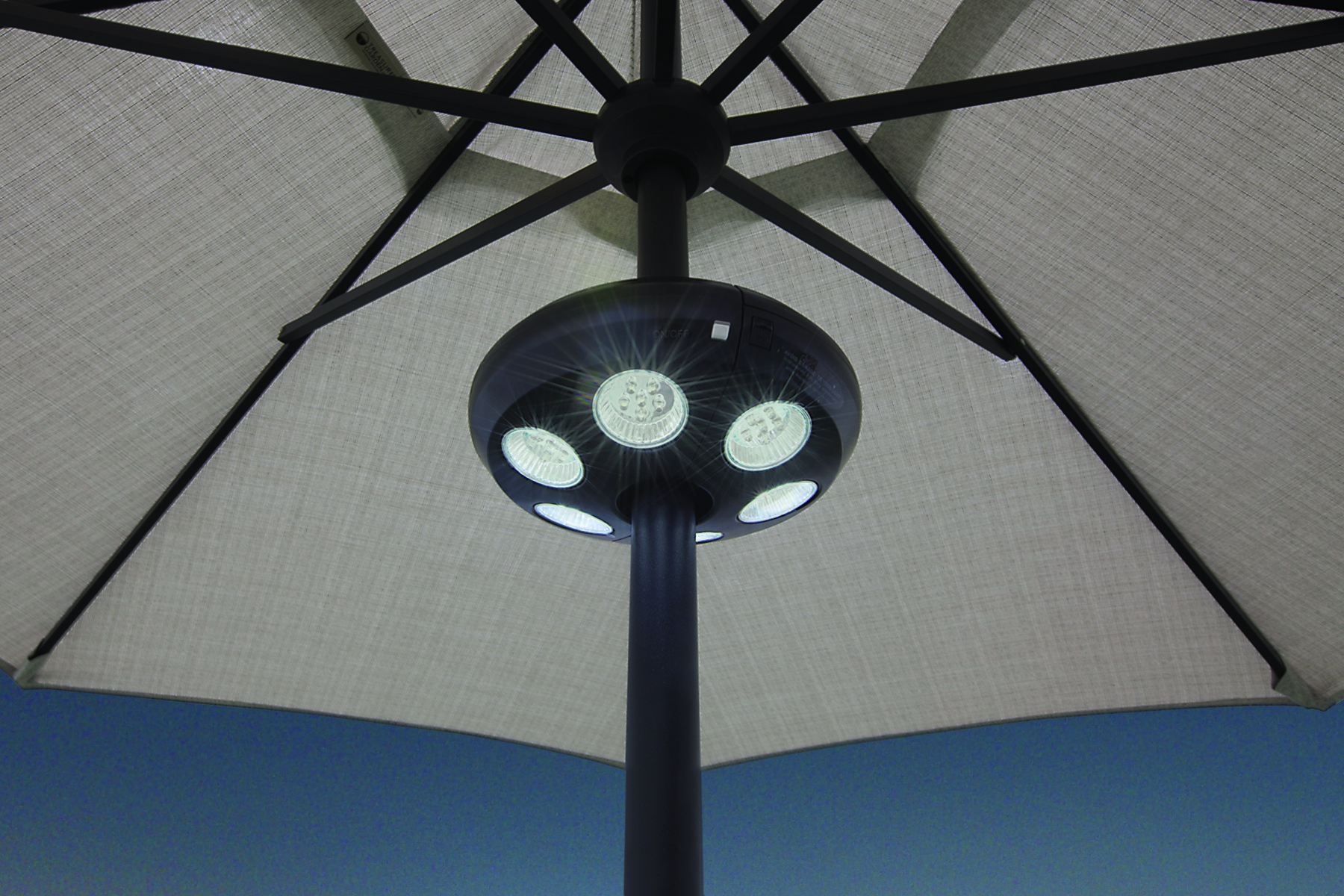 Large Vega Umbrella Light W 36 Led Lights Hauser S Patio