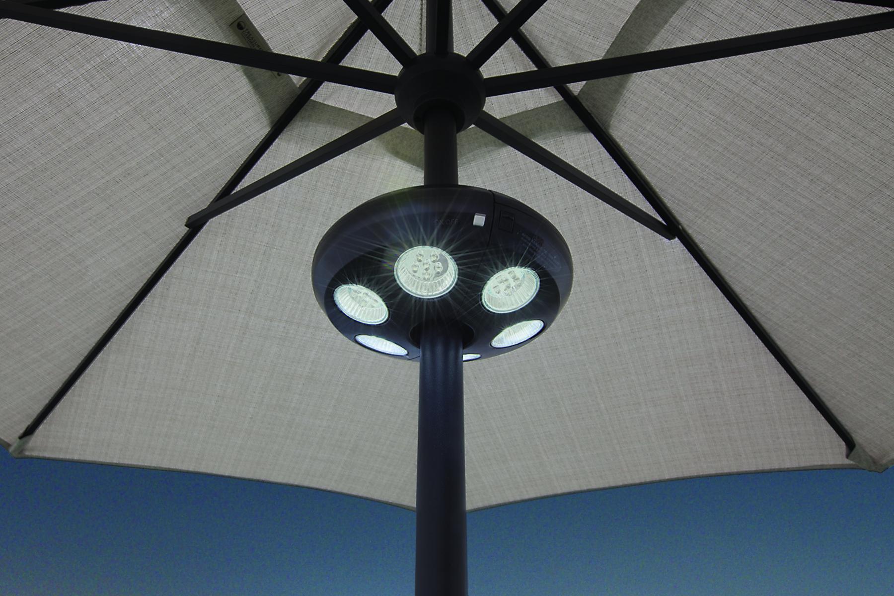 Large Vega Umbrella Light W 36 Led Lights Hauser S Patio