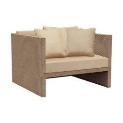 Elements Woven Club Chair W Loose Cushions 1 Rect Pillow  2 Sq Pillows