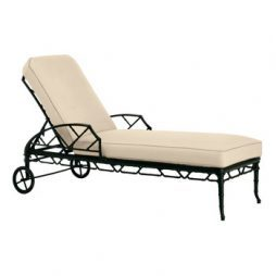 Calcutta chaise lounge with rollers
