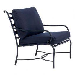Roma Suncloth Strap Lounge Chair Loose Cushions