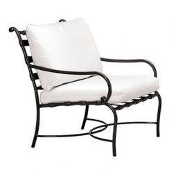 Roma Vinyl Strap Lounge Chair W Loose Cushions