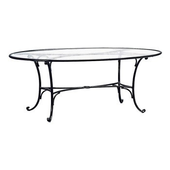 Roma X Oval Dining Table No Umbrella Hole Hausers Patio - 72 oval dining table