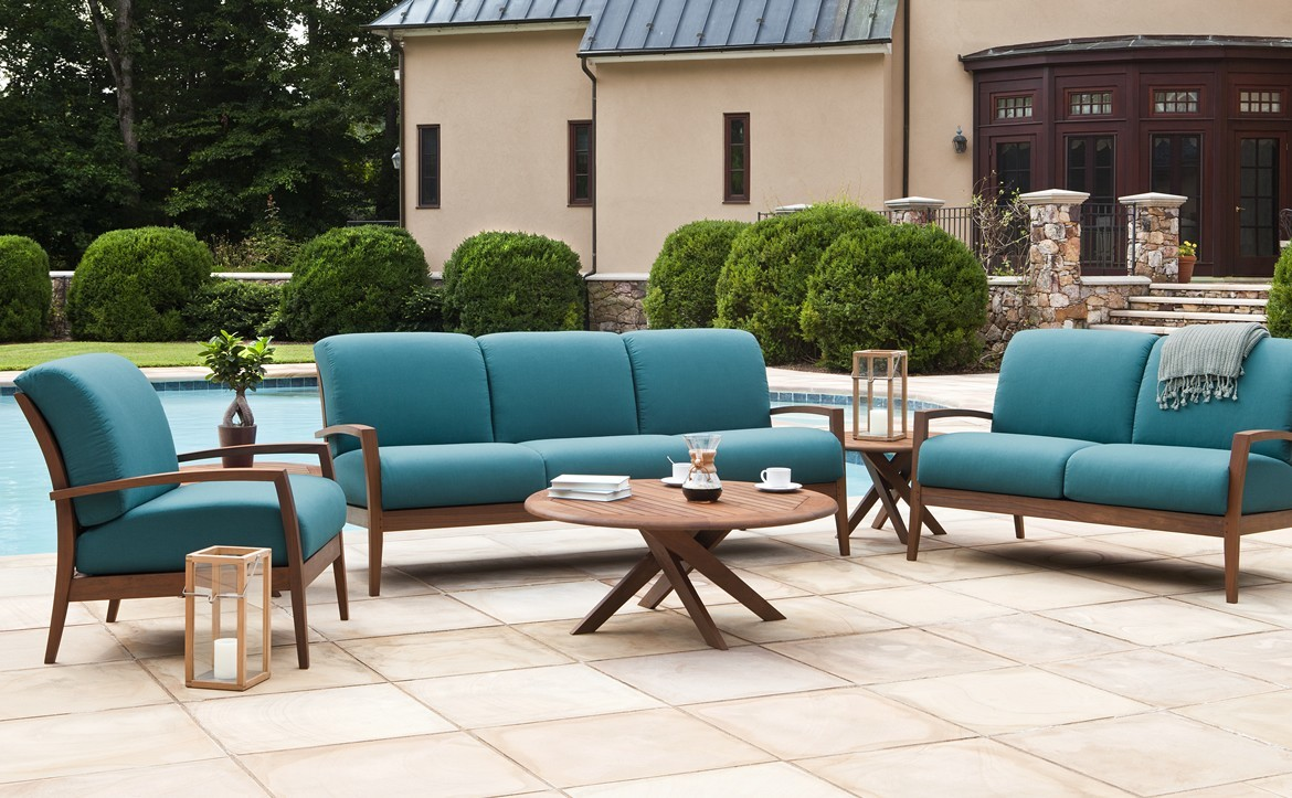 coral p jensen club outdoor furniture chat chair leisure ipe woven table patio