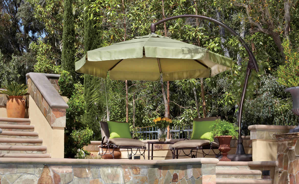 treasure garden green umbrella