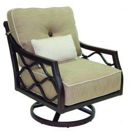 Villa Bianca Cushion Lounge Swivel Rocker w/ One Kidney Pillow