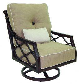 Villa Bianca Cushion High Back Lounge Swivel Rocker w/ One Kidney Pillow