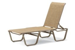 Aruba II Sling 4-Position Lay-flat Stacking Armless Chaise