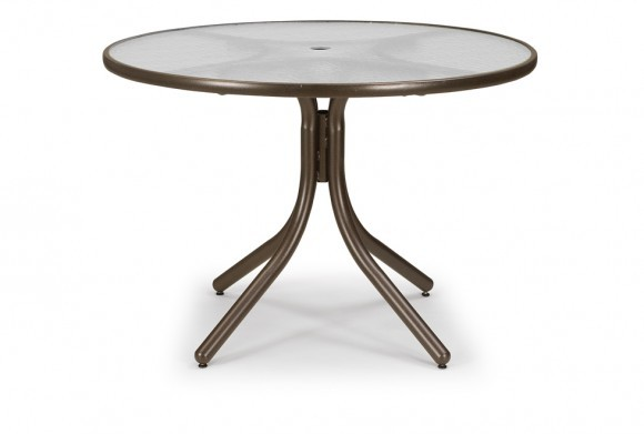 """42"""" Round Dining Table w hole Hauser s Patio"""