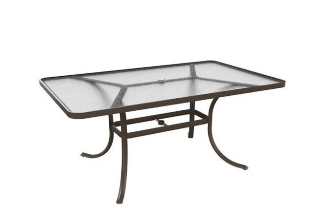 Dining Table 66 Quot X40 Quot Acrylic Top With Umbrella Hole
