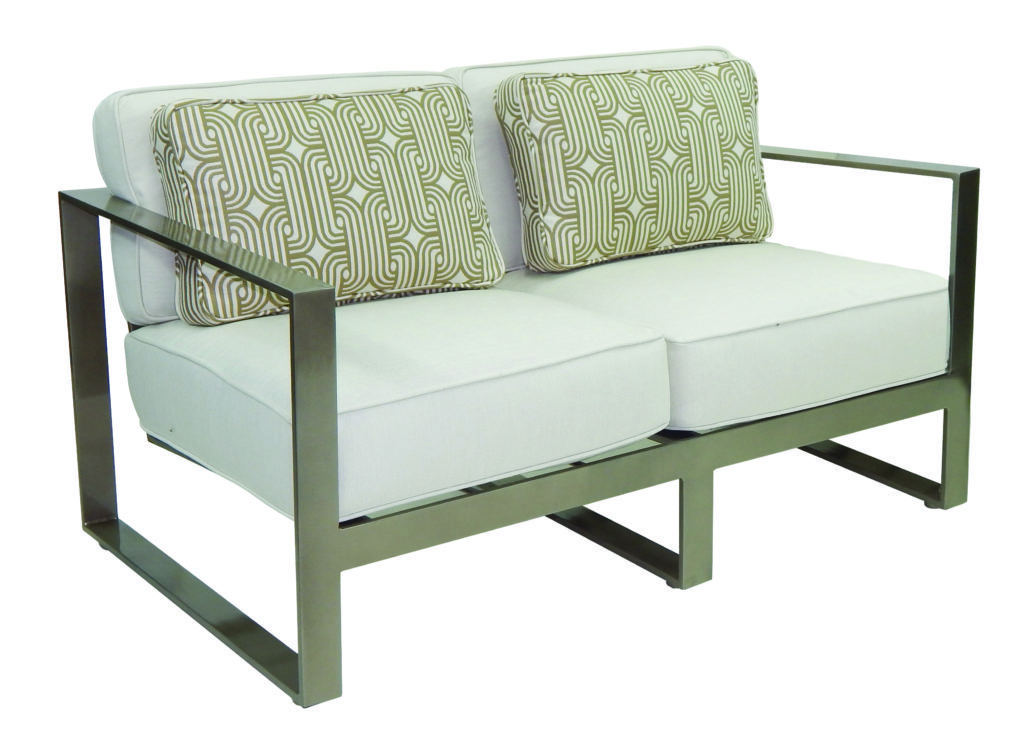 Park Place Cushion Loveseat W Two Pillows Hauser S Patio