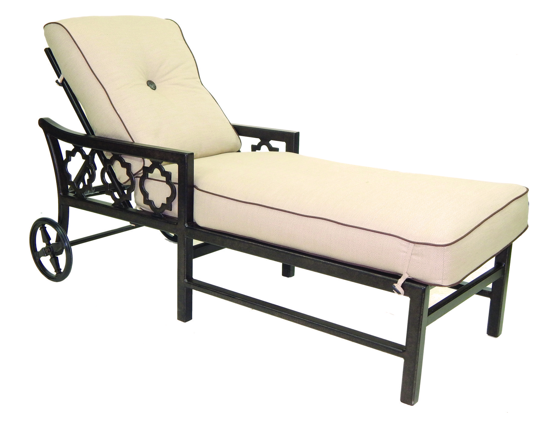 Belle Epoque Cushion Adjustable Chaise Lounge W Wheels