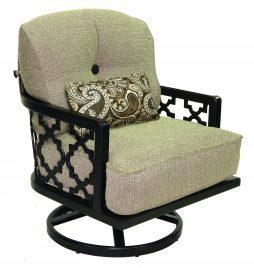 Belle Epoque Cushion Lounge Swivel Rocker w/ One Kidney Pillow