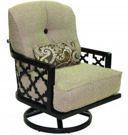 Belle Epoque Cushion High Back Lounge Swivel Rocker w/ One Kidney Pillow