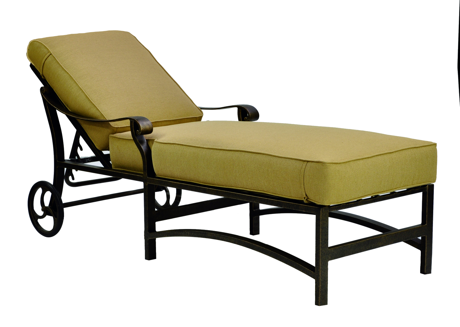 Madrid Cushion Adjustable Chaise Lounge W Wheels Hauser