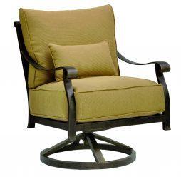 Madrid Cushion Lounge Swivel Rocker w/ One Kidney Pillow
