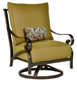 Veracruz Cushion High Back Lounge Swivel Rocker w/ One Kidney Pillow