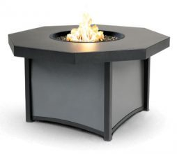 "Lunar Series 42"" Octagon Lunar Fire Table - Chat Height"