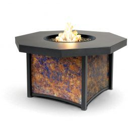 "Lunar Fusion Series 42"" Octagon Lunar Fusion Fire Table - Chat Height"
