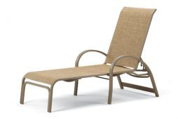 Aruba II Sling 4-Position Lay-flat Stacking Chaise