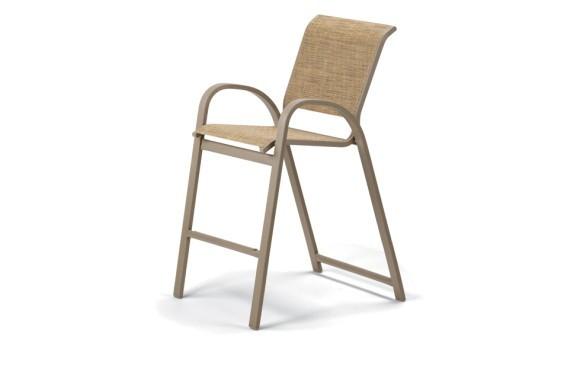 Aruba II Sling Bar Height Stacking Cafe Chair