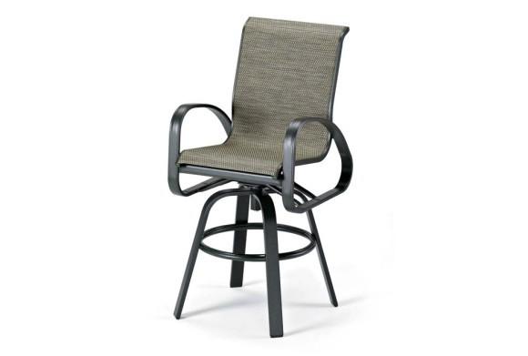 Primera Sling Bar Height Swivel Arm Chair