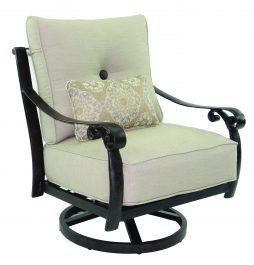 Bellanova Cushion Lounge Swivel Rocker w/ One Kidney Pillow