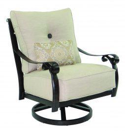 Bellanova Cushion High Back Lounge Swivel Rocker w/ One Kidney Pillow
