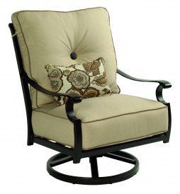 Monterey Cushion High Back Lounge Swivel Rocker w/ One Kidney Pillow
