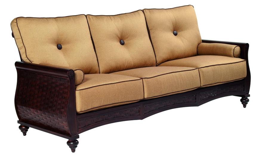French Quarter Cushion Sofa W Two Bolster Pillows