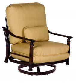 Coco Isle Cushion High Back Lounge Swivel Rocker w/ One Kidney Pillow
