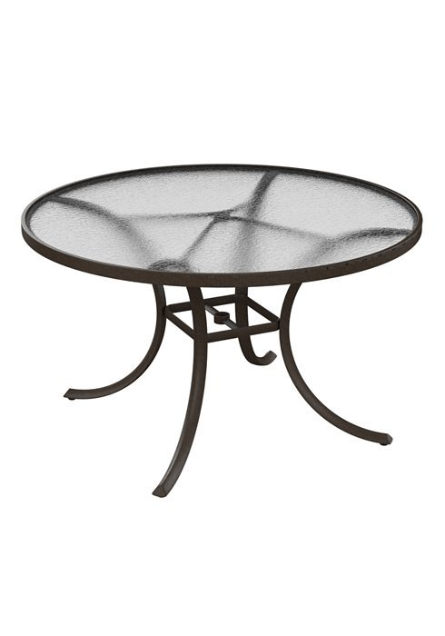 Dining Table 48 Quot Round With Acrylic Top Hauser S Patio