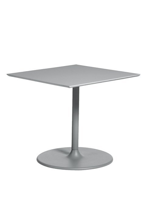 """Dining Table 35"""" Square With Round Pedestal - Hauser's Patio"""