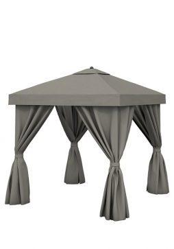 Aluminum Cabana 8' Square With Fabric Curtains (Vented)