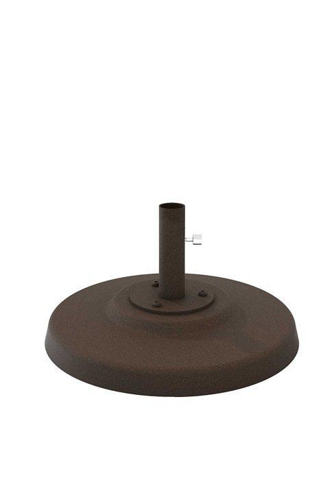 Concrete Filled Aluminum Umbrella Base 24 Quot Round 1 5 Quot Pole