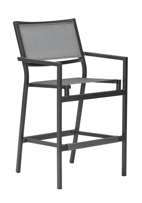cabana club aluminum sling barstool with 25 seat height hauser 39 s patio. Black Bedroom Furniture Sets. Home Design Ideas