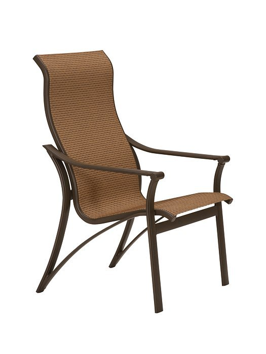 corsica sling dining chair high back hauser 39 s patio. Black Bedroom Furniture Sets. Home Design Ideas
