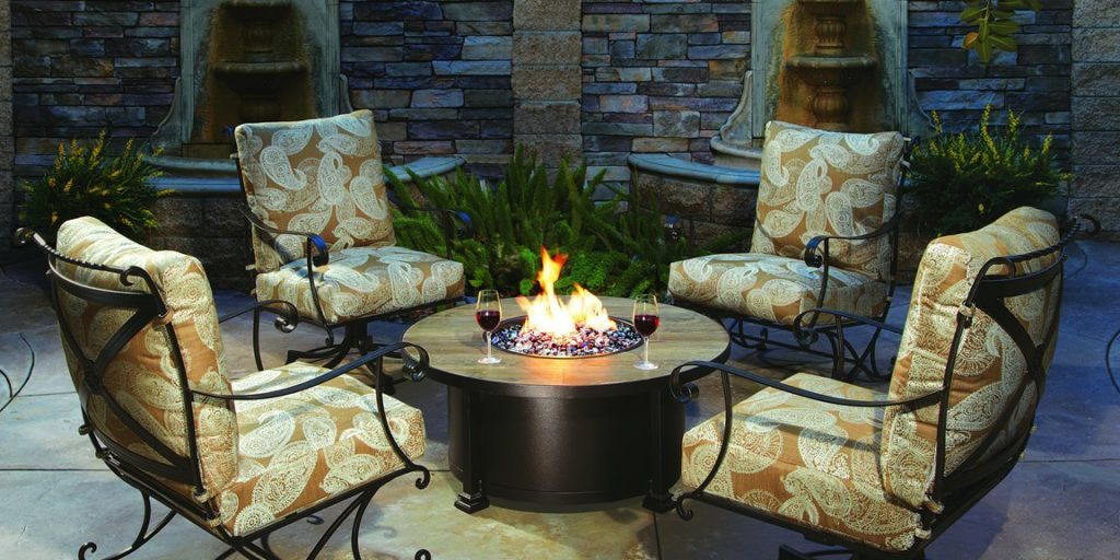 Fire Pit With Seating Arrangement