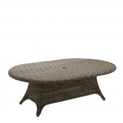 """Gloster 2642 Havana 54"""" x 86.5"""" Oval Dining Table (Woven Top)"""