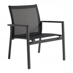 Gloster 475TM Azore Stacking Lounge Chair Tungsten Frame with Mercury Sling