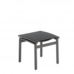 Gloster 476MC Azore Footstool Meteor Frame and Charcoal Sling