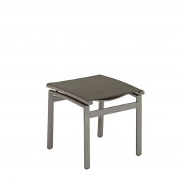 Gloster 476TM Azore Footstool Tungsten Frame with Mercury Sling